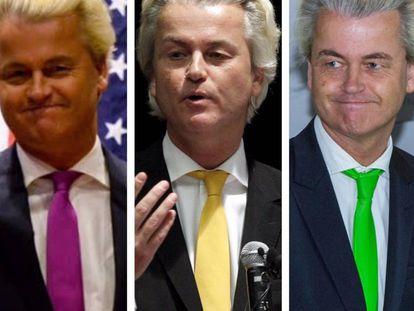 Geert Wilders, el ultraderechista holandés y su colección de corbatas chillonas.