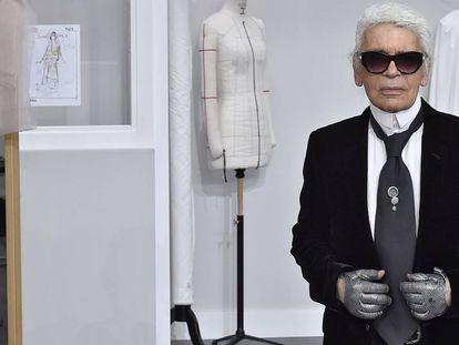 Karl Lagerfeld, en la semana de la Alta Costura de París en 2016.