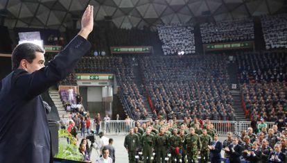 Nicolás Maduro, el pasado viernes en un acto con la policía bolivariana.