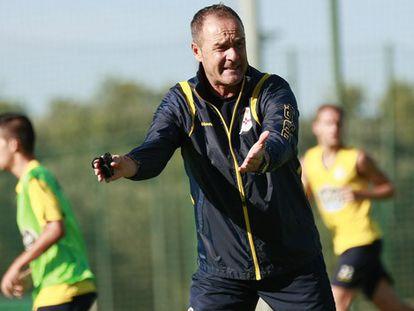 Víctor Fernandez, en un entrenamiento.