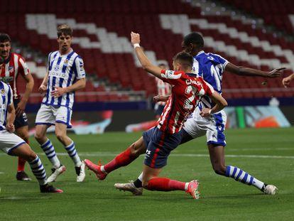 Carrasco marca el primer gol del Atlético