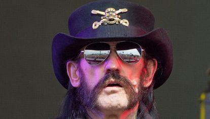 Lemmy Kilmister de Motorhead, el Festival de Glastonbury.