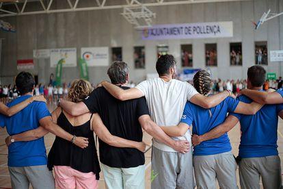 La familia Fernández al completo, unida en ese fatídico verano de 2019, durante el campus de Rudy en Mallorca.