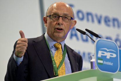 El ministro de Hacienda y Administraciones Pública, Cristóbal Montoro.