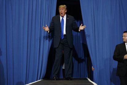 Donald Trump. en un acto electoral de las legislativas de EEUU.