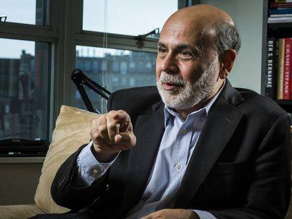 El expresidente de la Reserva Federal, Ben Bernanke, durante una entrevista con El País