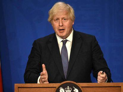 El primer ministro británico, Boris Johnson, en Londres.