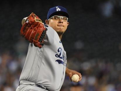 Julio Urias ''pitcher' de los Dodgers impone una nueva marca para un mexicano en Grandes Ligas.
