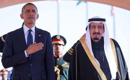 Obama y el rey saudí, la semana pasada en Riad.
