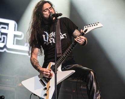 Leo Jiménez, durante un concierto. / MIKEL MASA