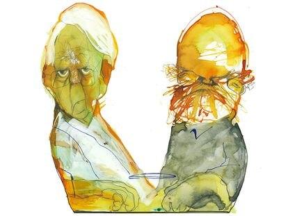 Cristóbal Halffter (izquierda) y Luis de Pablo.