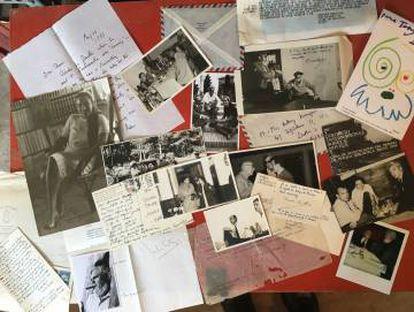 Cartas y fotos del matrimonio Kerrigan de Borges, Cortázar, Reinaldo Arenas, Ozick, Alberti, Barral, Goytisolo, Salinas, Cela, Aranguren, Américo Castro, Aleixandre, Graves, Carles Riba…
