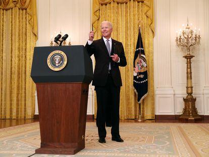 El presidente Biden, este lunes en la Casa Blanca.
