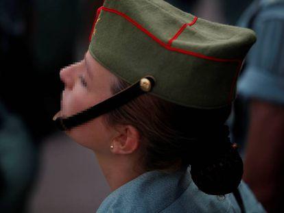 Una dama legionaria, el pasado día 29 de marzo, en Málaga.