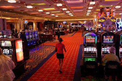 Interior del casino Showboat, que cerrará este domingo 31 de agosto.