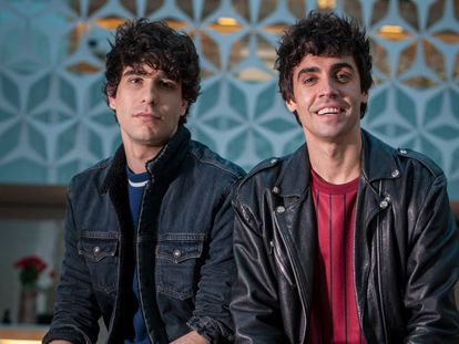 Los actores Javier Calvo y Javier Ambrossi, el pasado febrero en los Premios Gaudí en Barcelona.