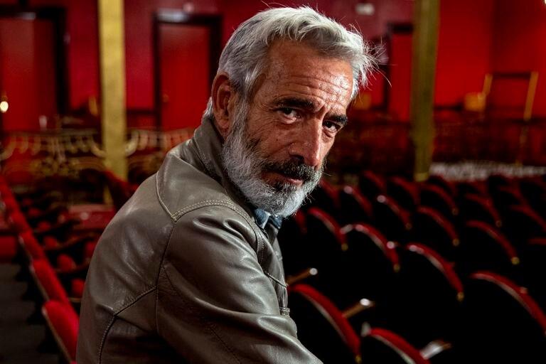 Imanol Arias este lunes durante la presentación de la obra de teatro 'El coronel no tiene quien le escriba'.