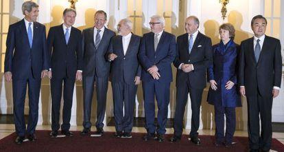 Los negociadores occidentales, hoy en Viena.
