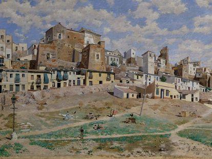 'La Coracha de Málaga', de Germán Álvarez Algeciras, muestra cómo era el barrio malagueño en 1876.
