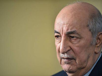 Abdelmajid Tebún, el 24 de noviembre en Argel.