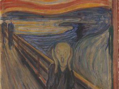 La versión de 'El grito', la obra cumbre de Munch, expuesta en el Museo Munch de Oslo.
