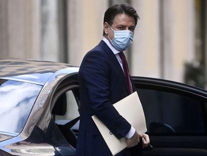 El primer ministro italiano Giuseppe Conte, el día que presentó su dimisión, el 27 de enero en Roma.