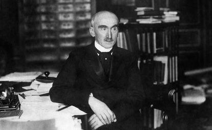 El filósofo francés Henri Bergson (1859-1941), ganador del Nobel de Literatura en 1927, en una imagen de 1928.