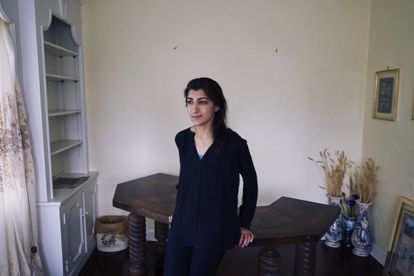 Portrait of Lina Khan in her apartment in Larchmont, New York, in 2017. That year she published 'Amazon's Antitrust Paradox', the most widely read scientific legal article in US history.