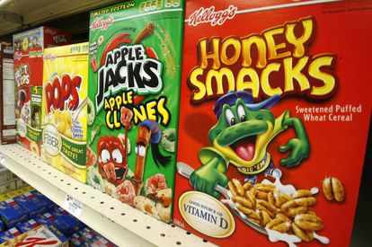 Una caja del cereal 'Honey Smacks' en un mercado en Pensilvania (EE UU)