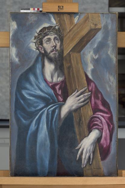 El lienzo de Cristo, atribuido a El Greco