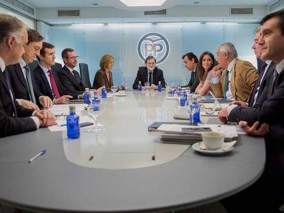 Mariano Rajoy preside este lunes la reunión del comité de dirección del PP.
