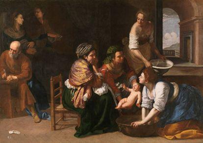 'Nacimiento de San Juan Bautista' (1635), de Artemisia Gentileschi.
