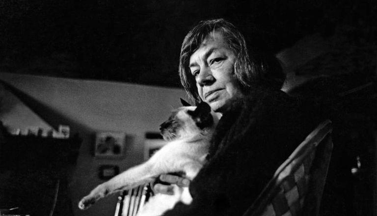 La escritora Patricia Highsmith.