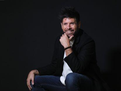 El cantante Pablo López, en la sede de Universal Music en Madrid la semana pasada.