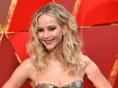 Jennifer Lawrence en los premios Oscar de 2018.