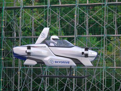 Pruebas de un vehículo volador eléctrico en Japón, el pasado día 25 de agosto.