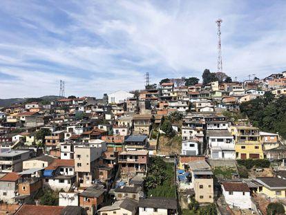 Vista de una favela de São Paulo.