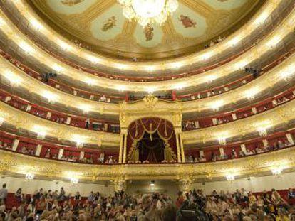 Vista interior del Teatro Bolshoi de Moscú.