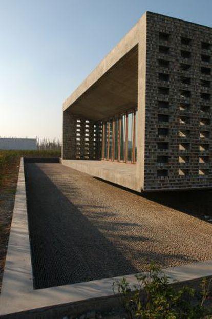 La Ceramic house, en el parque Jinhua de China, obra de Wang Shu.