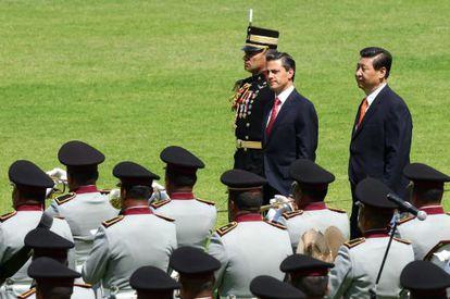 Los presidentes Enrique Peña Nieto y Xi Jinping, en junio en México.