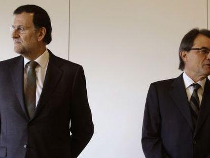 Rajoy y Mas, el pasado enero.