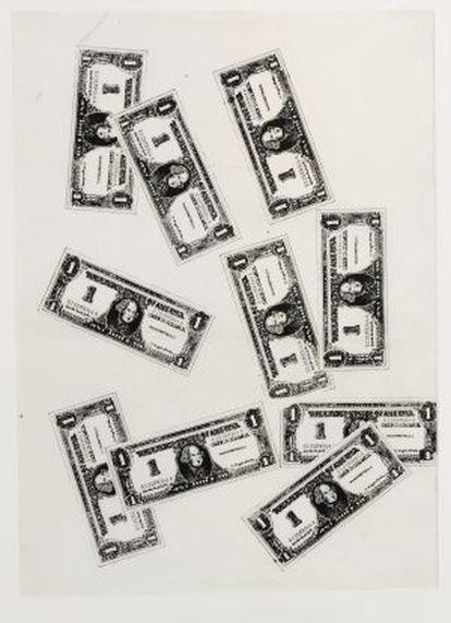 'Ten one dollar bills', (1962).