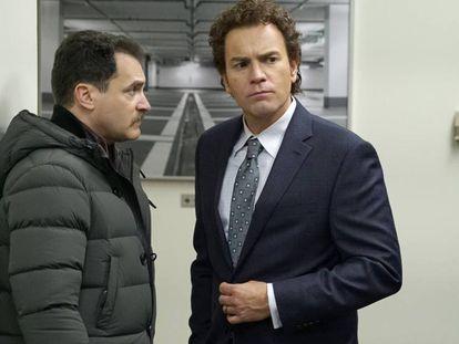 Michael Stuhlbarg y Ewan McGregor en la tercera temporada de 'Fargo'.