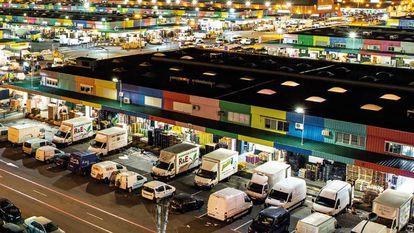 Vista de Mercamadrid, plataforma de distribución, comercialización, transformación y logística de alimentos frescos.