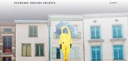 Imagen de la web Pandemic Dreams Archive, que recopila los sueños que los usuarios han tenido durante la pandemia.