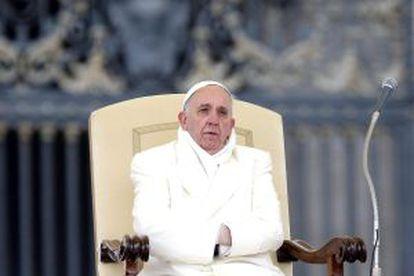 El papa Francisco durante una audiencia en la Ciudad del Vaticano.