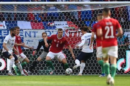 Griezmann marca el gol de Francia.