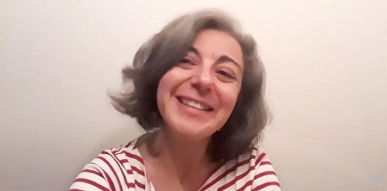 Isabel García Adánez, en un vídeo de youtube de la editorial Conatus.