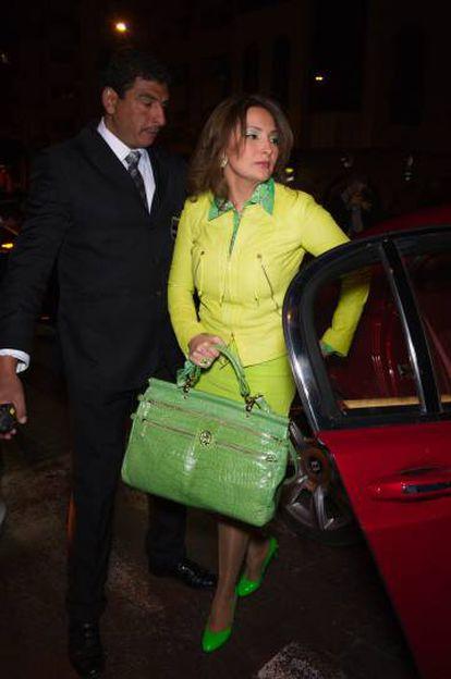 Hind El Achchabi llega a la inauguración de una boutique de Roberto Cavali en Casablanca, en marzo de 2012