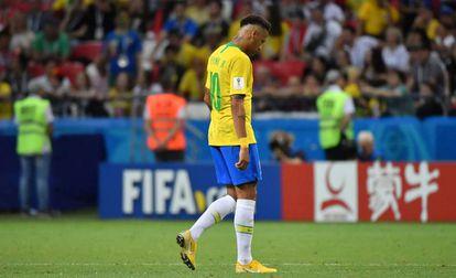 Neymar, durante el partido.